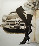 Street Rod Paintings - I Changed My Mind by Carlos David