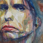 Singer Songwriter Painting Framed Prints - I Could Spend My Life In This Sweet Surrender Framed Print by Paul Lovering