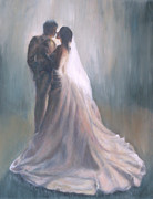 Bride And Groom Paintings - I Do by Kerima Swain