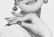 Earrings Drawings - I feel pretty by Kume Bryant