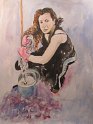 Watercolorist Painting Originals - I Hate Womens Work by Esther Newman-Cohen