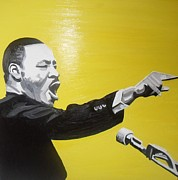 Martin Luther King Jr. Paintings - I Have a Dream by Claire Reid
