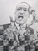 King Drawings Prints - I have a Dream Martin Luther King Print by Joshua Morton