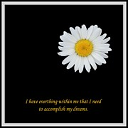 Affirmation Prints - I Have Everything Within Me Print by Barbara Griffin