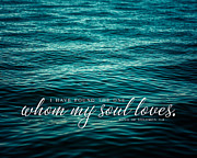 Quotation Posters - I Have Found The One whom my Soul Loves. Poster by Lisa Russo