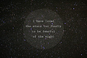 Violet Gray - I have loved the stars...