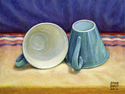 Tea Cups Paintings - I Hear You by Jane Bucci