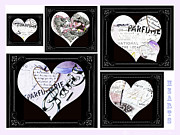 Textile Licensing Mixed Media Framed Prints - I Heart Hearts 2 Framed Print by Anahi Decanio