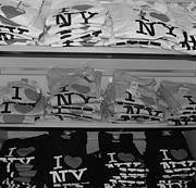 September 11 Wtc Digital Art Metal Prints - I HEART NY in BLACK AND WHITE Metal Print by Rob Hans