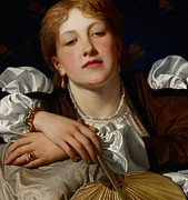 Auburn Paintings - I know a maiden fair to see by Charles Edward Perugini