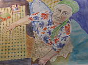 Watercolorist Painting Originals - I Know Im Right  by Esther Newman-Cohen