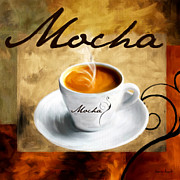 Vintage Coffee Posters - I Like  That Mocha Poster by Lourry Legarde
