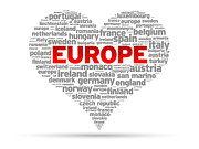 I Love Europe Print by Aged Pixel