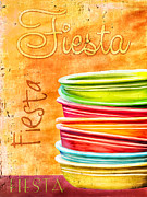 Bryant Photo Posters - I Love Fiestaware Poster by Brenda Bryant
