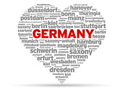 I Love Germany Print by Aged Pixel