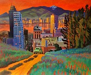 Taos Paintings - I Love New York City Jazz by Art West
