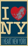Caricature Posters Framed Prints - I LOVE NEW YORK in HOPE Framed Print by Rob Hans