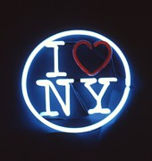 New York Sculpture Metal Prints - I Love New York Metal Print by Pacifico Palumbo