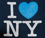 T Shirts Digital Art Prints - I Love New York Print by Rob Hans