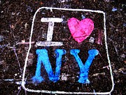 I Love Ny Print by Ed Weidman