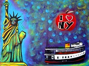 Liberty Paintings - I Love NY by Laura Barbosa