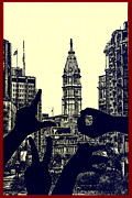 Philadelphia Digital Art Prints - I Love Philly Print by Bill Cannon