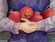 I Love Pomogranates Print by Shirin Shahram Badie