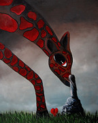 Imaginary Wildlife Art Prints - I Love The Way by Shawna Erback Print by Shawna Erback