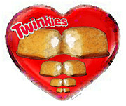 Junk Posters - I Love Twinkies - Hostess Snack Cake Poster by Sharon Cummings