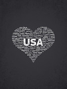 I Love Usa Print by Aged Pixel