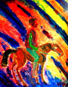Mexican Horse Paintings - I love you because  by Hilde Widerberg