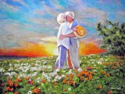 Daisies Paintings - I Love You Darling by Michael Durst