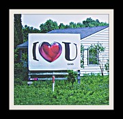 Red School House Digital Art Prints - I Love You.....  God Print by Rosemarie E Seppala
