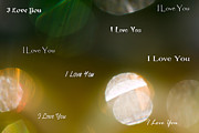 Emotions Art - I Love You in Light by Marie Jamieson