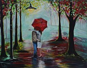 Pathway Paintings - I Love You by Leslie Allen