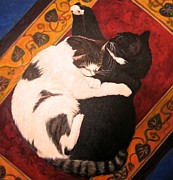 Cat Images Paintings - I Love You by Vicki Ledray Grabicki