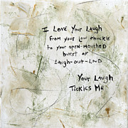 Open-mouthed Posters - I Love Your Laugh Poster by Ava Art