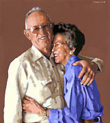 Loving Couple Paintings - I Married PJ by Douglas Simonson