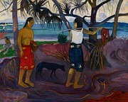 Polynesia Prints - I Raro Te Print by Paul Gauguin