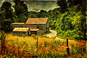 Barns Digital Art Acrylic Prints - I Remember It Was In The Summer Acrylic Print by Lois Bryan