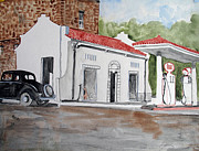 Service Station Paintings - I Remember by Sandy McIntire
