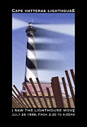 Fence Digital Art Prints - I Saw The Lighthouse Move Print by Mike McGlothlen