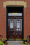 Entrance Door Photos - I see a red door by Christine Till