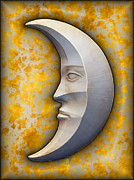 Man In The Moon Framed Prints - I See The Moon 1 Framed Print by Wendy J St Christopher
