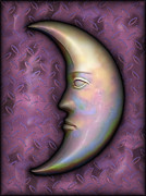 Crescent Moon Digital Art Prints - I See The Moon 2 Print by Wendy J St Christopher