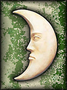 Man In Moon Prints - I See The Moon 3 Print by Wendy J St Christopher