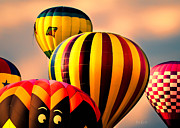 Hot Air Balloons Framed Prints - I see you Framed Print by Bob Orsillo