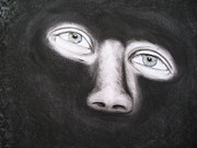 Dark Eyes Pastels Prints - I See You Print by Ladonna Everett