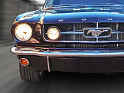 Purple Ford Photos - I See You - Pony Grille With Lights by Gill Billington