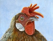Barnyard Animal Paintings - I See You by Vicky Watkins